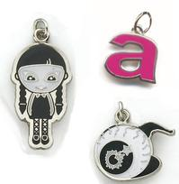 Economical Die Struck Iron Charm with Soft Enamel Colorfill - Up to 3/4