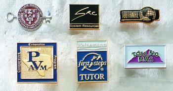 Economical Die Struck Brass Lapel Pin with Soft Enamel Colorfill