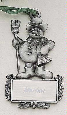 Snowman MasterCast Design Cast Ornament