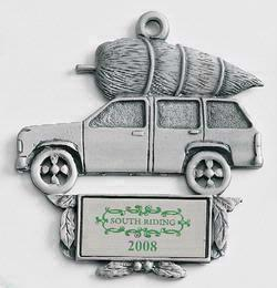 Truck with Tree MasterCast Design Cast Ornament
