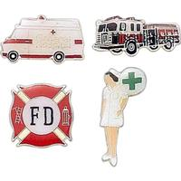 Stock Pins - Police Fire Medical theme