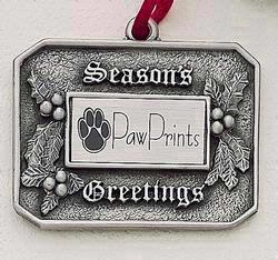 Season's Greetings Holly MasterCast Design Cast Ornament