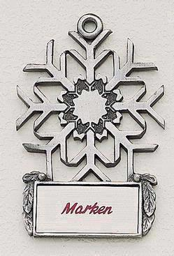 Snowflake MasterCast Design Cast Ornament