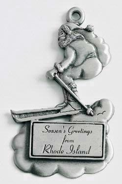 Skiing Santa MasterCast Design Cast Ornament
