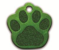 Anodized Aluminum Paw Shape Pet Tag / ID Tag