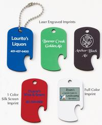 Anodized Aluminum Dog Tag Bottle Opener Pet Tag / ID Tag