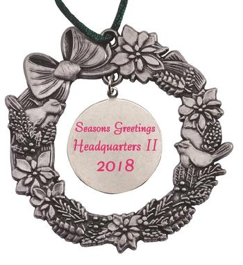 Wreath with Dangle MasterCast Design Cast Ornament