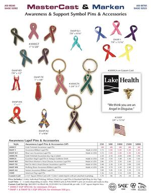 Awareness Lapel Pins & Accessories