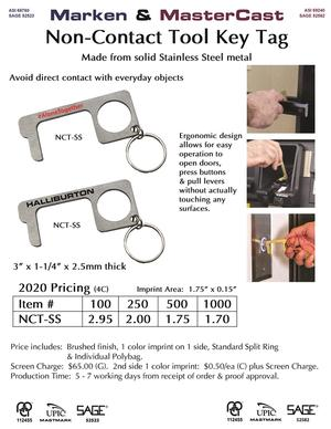 New Stainless Steel Non-Contact Tool key tag