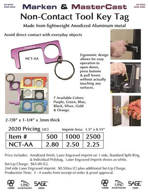New Anodized Aluminum Non-Contact Tool key tag
